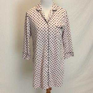 Kate Spade   Pink Polka Dot Night Shirt Large